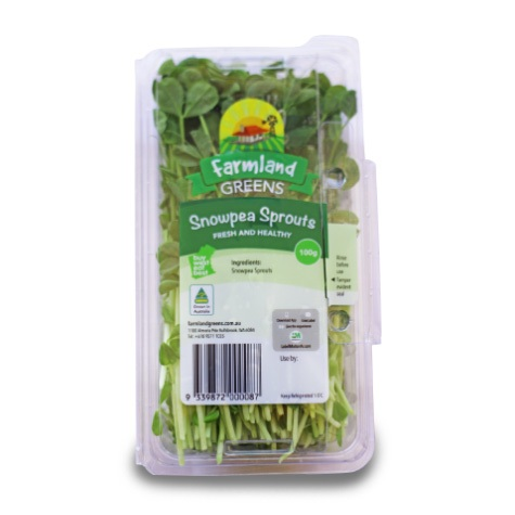 snowpea sprouts farmland greens